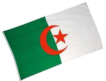 Drapeau Algerie en tissu 90 cm x 150 cm pavillon algerien: Amazon.fr ...