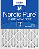 Nordic Pure 20x25x1 AC Furnace Air Filters MERV 12, Box of 6