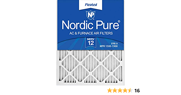 Nordic Pure 20x22x1 Exact MERV 11 Pleated AC Furnace Air Filters 4 Pack