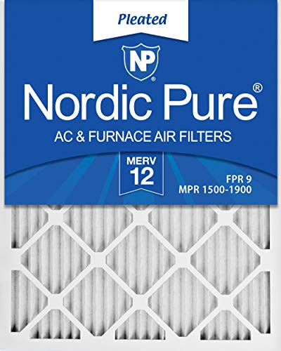 (Nordic Pure 16x25x1 MERV 12 Pleated AC Furnace Air Filter, Box of 6)