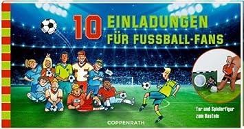 Coppenrath 92895 Einladungskarten   10 Einladungen Für Fußball Fans