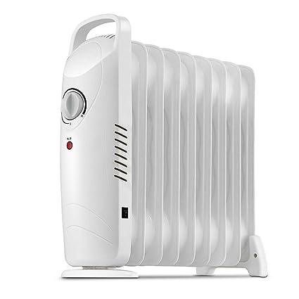 Radiador Relleno de Aceite - Calentador eléctrico portátil - Interruptor de Seguridad Ajustable de Temperatura y