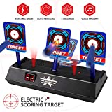 AMOSTING Electronic Digital Target for Nerf Guns N-Strike Elite/Mega/Rival Series-Auto Reset Targets Toys for Boys and Girls