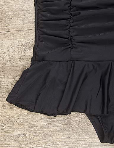 d23ef65395b34 BMJL Women s One Piece Bathing Suit Plus Size Swimwear Modest Swimsuits  Tummy Control Swimdress