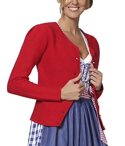 Stockerpoint Damen Trachtenstrickjacke Jacke Rosali, Gr. 40, Rot (rot)