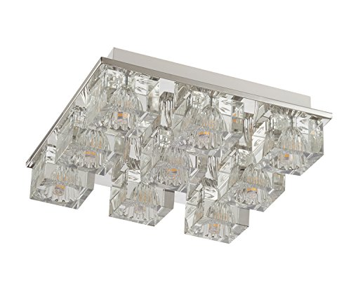 Lightess Chandelier Lighting LED Crystal Ceiling Light Fixtures Modern Flush Mount with 9 Lights in Square Shape by LIGHTESS (Image #5)
