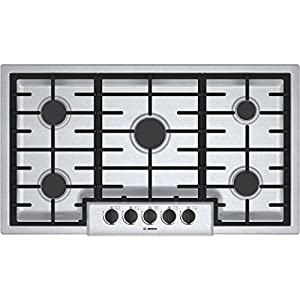 "Bosch NGM5655UC500 36"" Stainless Steel Gas Sealed Burner Cooktop"