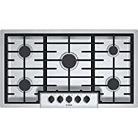 Bosch NGM5655UC500 36 Stainless Steel Gas Sealed Burner Cooktop