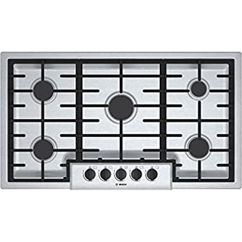 """Bosch NGM5655UC500 36"""" Stainless Steel Gas Sealed Burner Cooktop"""