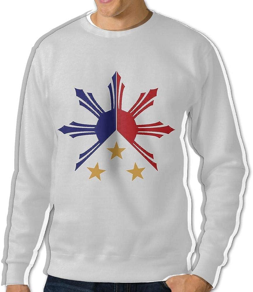 Tribal Philippines Filipino Sun and Stars Flag Adult Mens Sports Long Sleeve Hoody T-Shirt