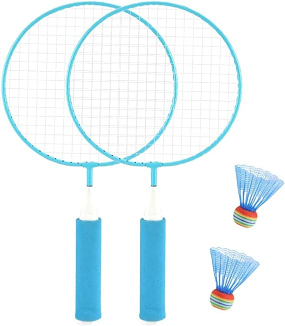 uscoreek 1 Pair Mini Badminton Racket Set for Kids