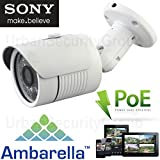 Cheap USG Sony + Ambarella 3MP @ 30FPS PoE HD IP Network Bullet Security Camera With 3MP 3.6mm Wide Angle Lens, ONVIF 2.4, Outdoor/Indoor IP66 Weatherproof Vandalproof, 24x IR LEDs