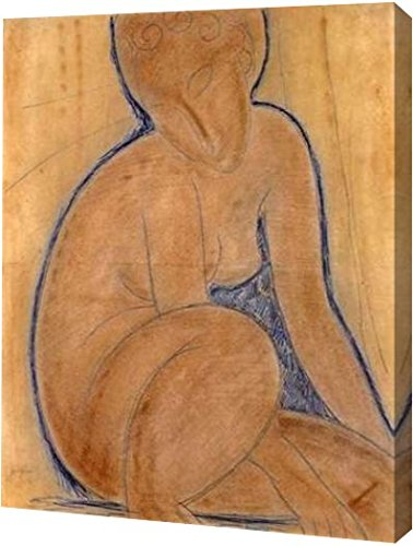 "Crouched Nude by Amedeo Modigliani - 19"" x 24"" Gallery Wrapped Giclee Canvas Art Print - Ready to Hang"