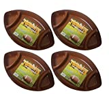 Set of 4 Football Fun Chip N' Dip Food Tray 17