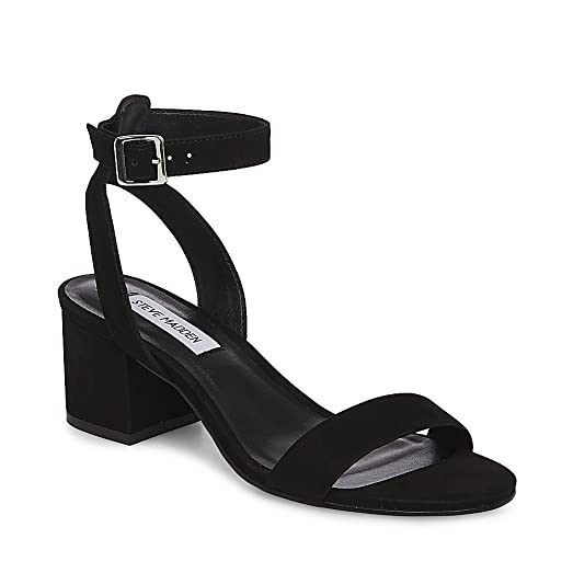 Steve Madden Women's involve Black Nubuck Sandal ...