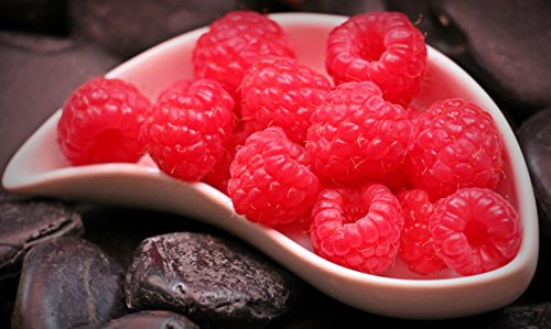 Home Comforts LAMINATED POSTER Red Raspberry Fruit On White