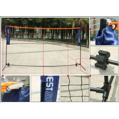Red de b/ádminton con armaz/ón// varillaje SoBuy/® ajustable en altura 5m red de tenis SFN03
