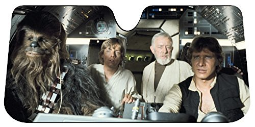 Star Wars Auto Sun Shades Summer Dual Bubble Fan Folded Premium Standard Size Sunshade & Bonus Apple Air Freshener (Auto Shade Star Wars compare prices)