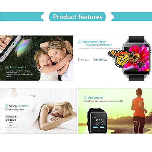 AGPTEK GT88 Smart Watch, Bluetooth 4 0 Connectivity Sports