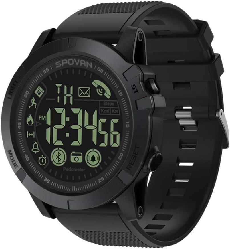 T1 Tact Grado Militar Super Resistente Reloj Inteligente Reloj de Deportes al Aire Libre Mens Digital Podómetro Impermeable Contador de calorías Multifunción Bluetooth Reloj Inteligente