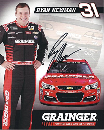 ... 2017 Ryan Newman #31 Grainger Chevrolet Team (Richard Childress Racing) Monster Energy Cup Series Signed Collectible Picture 8X10 Inch NASCAR Hero Card ...
