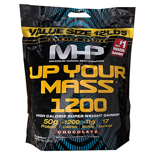 - MHP Up Your Mass Super Weight Gainer Value Size 12 Lbs. Chocolate