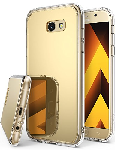 Galaxy A3 2017 Case, Ringke [FUSION MIRROR] Bright Reflection Radiant Luxury Mirror Case [Drop Protection / Shock Absorption Technology] for Samsung Galaxy A3 2017 - Royal Gold