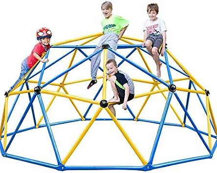 Zupapa 2020 Escalador de cúpula Mejorado, Geo Jungle Gym Decagonal con Apoyo de 735 Libras con Mucho más fácil de Montar, un montón de diversión para ...