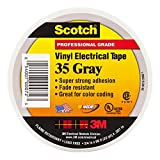 3M 35-Gray-1/2x20FT Scotch Vinyl Electrical Color Coding Tape, 1/2'' x 20'