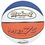 Markwort MB7 Series Rubber Basketball - Red/white/Blue