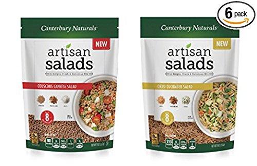 Couscous Salad - Canterbury Naturals Artisan Salad Pasta Sampler 6-Pack (3 Couscous / 3 Orzo)