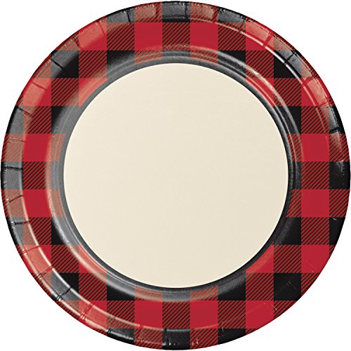 Buffalo Plaid Paper Plates, 24 ct