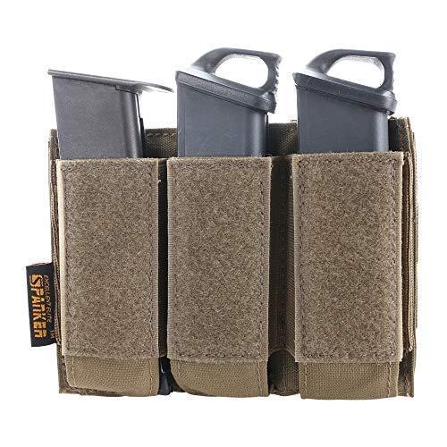 (EXCELLENT ELITE SPANKER Tactical Open Top Double/Triple Pistol Mag Pouch for Glock M1911 92F Magazines 40mm Grenade(COB))