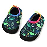 Panda Software Baby Boys Girls Water Shoes Infant Barefoot Quick -Dry Anti- Slip Walking Aqua Sock for Beach Swim Pool Green-Dinosaur/12-18 Months M US Infant