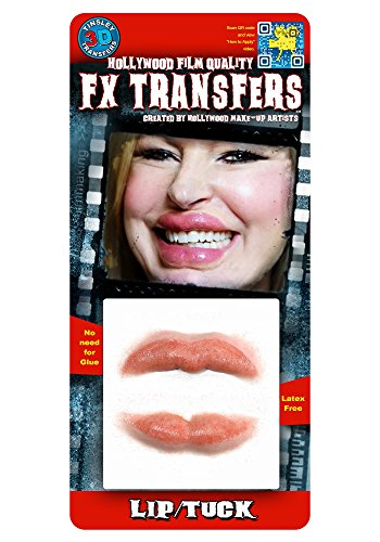 [Tinsley Transfers  Lip Tuck, Flesh/Multi, One Size] (Prosthetic Fx Makeup Halloween Masks)