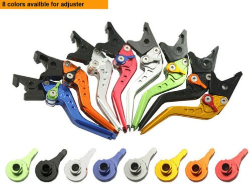 Embiofuels(TM)2015 Motorcycle 2x Folding Extendable Brake Clutch Lever for Kawasaki Ninja ZX6R ZX636 ZX6RR 2000-2008 C20
