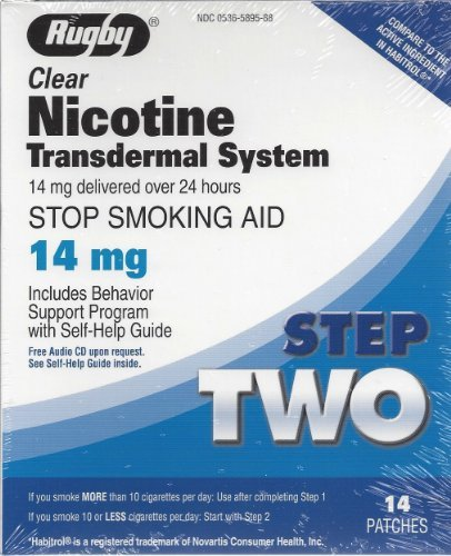 Rugby Clear Nicotine Transdermal System 14mg *Compare to Habitrol* - Buy Packs and SAVE (Pack of 3)