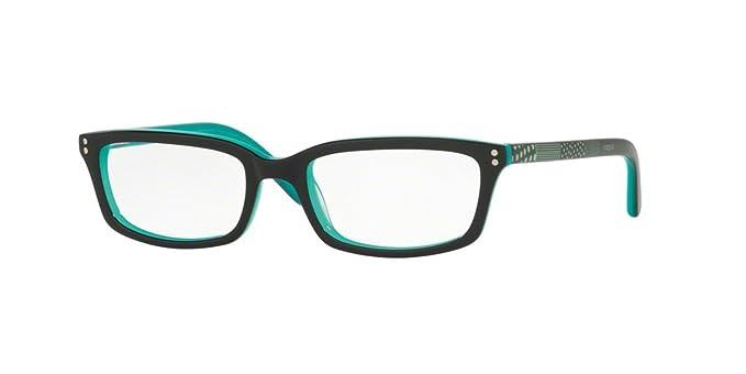 Vogue VO5081 Eyeglass Frames 2435-47 - Top Black/teal VO5081-2435-47 ...