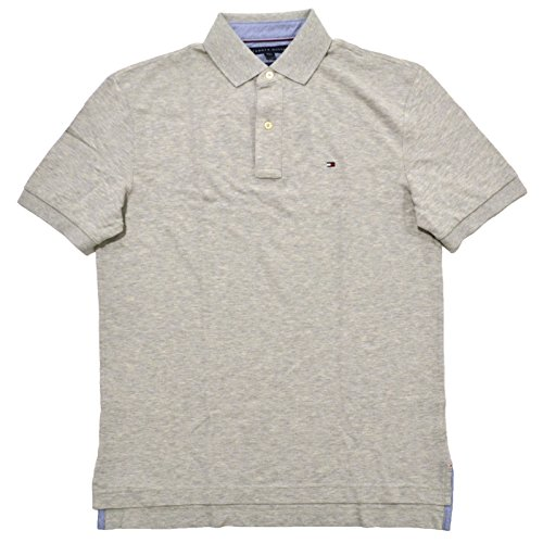 Collar Shirt Polo Mesh - Tommy Hilfiger Mens Mesh Classic Fit Polo Shirt (M, Grey)