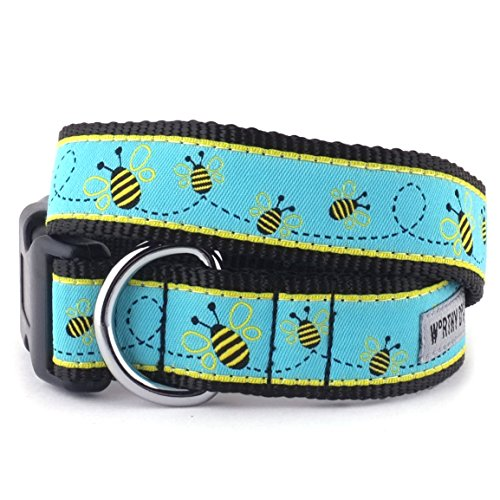 Busy Bee Collar, Blue, XS 0.625' Lead