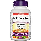 Webber Naturals Vitamin B100 Complex Tablet, 100mg