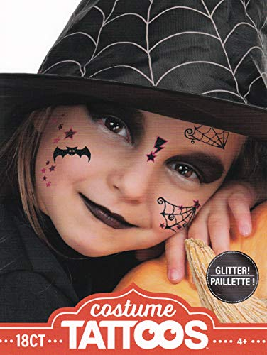 Halloween Temporary Costume Tattoo Kit Men or Women - (Kid Witch)