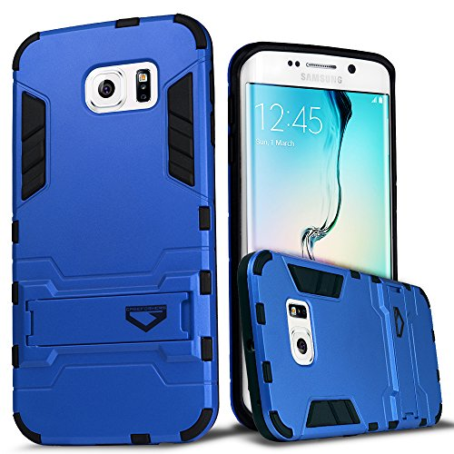 S6 Edge Case, CASEFORMERS Ultra Slim Armor Case for Samsung Galaxy S6 Edge [Shockproof Case] - Ice Blue