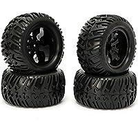 New 4PCS Wheel Rim & Tires HSP 1:10 Monster Truck RC Car 12mm Hub 88005 By KTOY