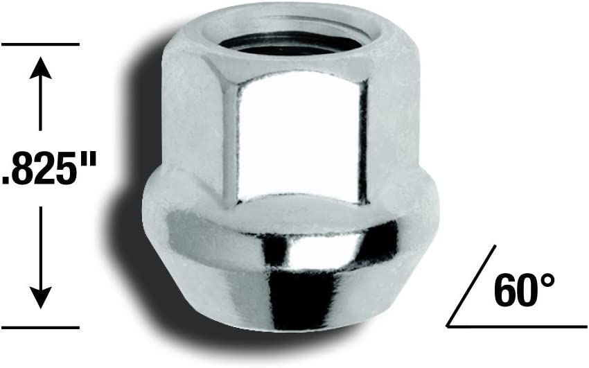 Gorilla Automotive 40067B Acorn Bulge Open End Lug Nuts 12mm x 1.75 Thread Size