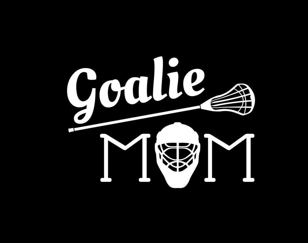 Lacrosse Goalie Mom Mask Stick NOK Decal Vinyl Sticker |Cars Trucks Vans Walls Laptop|White|5.5 x 4.0 in|NOK739