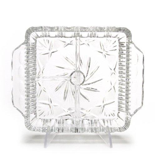 Relish Dish, Glass, 3-Part, Star Design ()