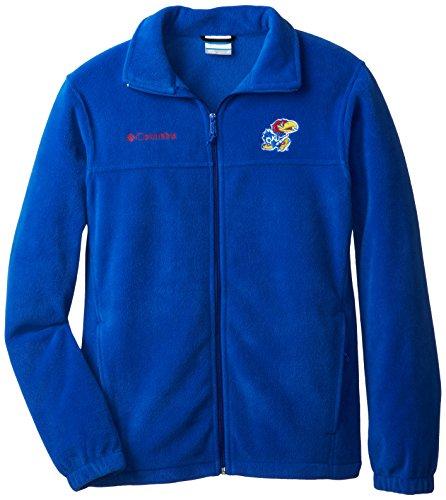 Fleece Zip Full Flanker Mens - NCAA Kansas Jayhawks Men's Collegiate Flanker II Full Zip Fleece Sweater, Azul, X-Large