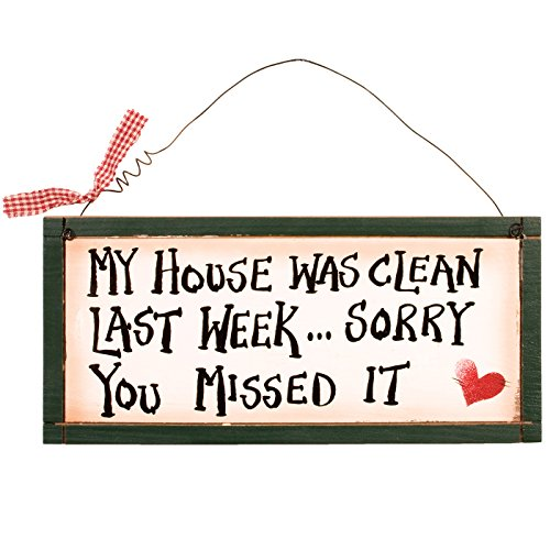 Wholesale Inspirational Plaques (Ohio Wholesale My House was Clean Wall Art, from our Humor Collection)