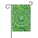 U LIFE Hello Spring Floral Green Leaves St Patricks Day Garden Yard Flag Banner for Outside House Flower Pot Double Side Print 40 x 28 Inch